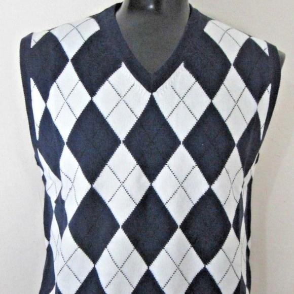 537573dbcc2ff8 Golf Knickers Sweaters | Mens L Golf Vest Navy Argyle Nwt | Poshmark